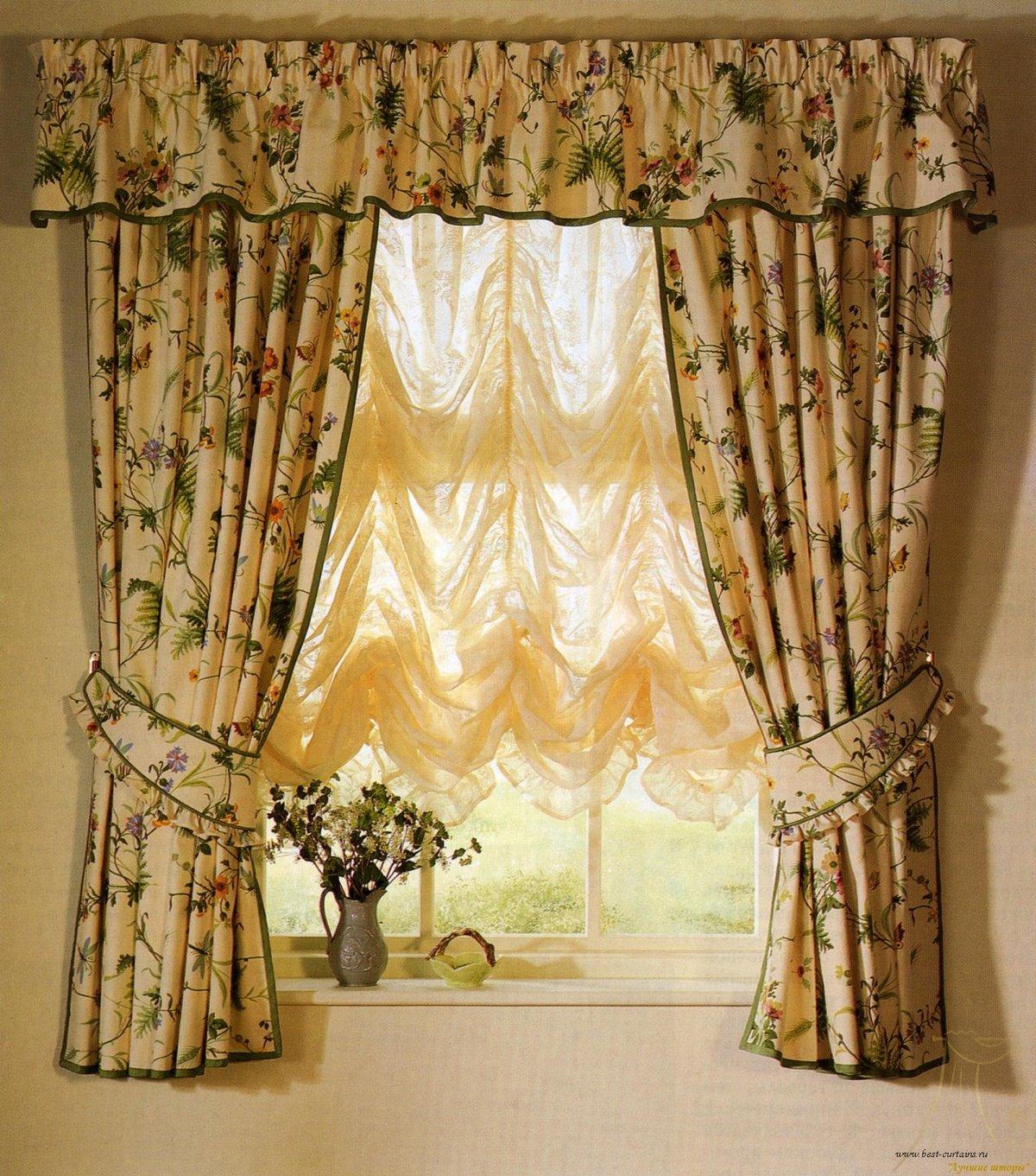 Сшить шторы из двух тканей разных цветов своими руками 5