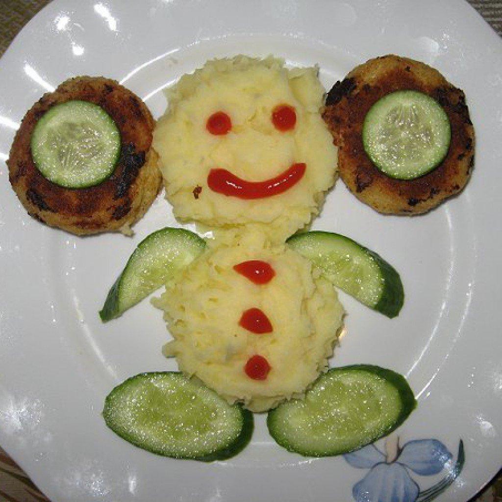 Красивое оформления блюд для детей