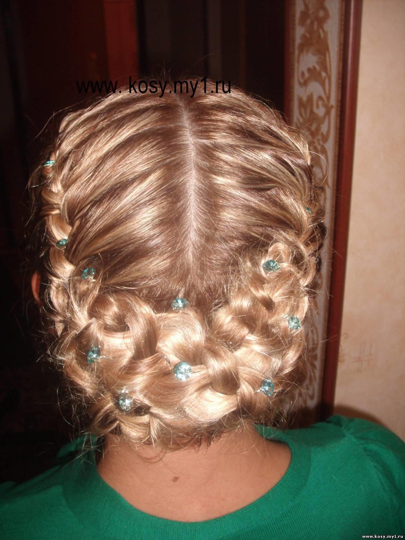 Причёска плетение на средние волосы с чёлкой фото