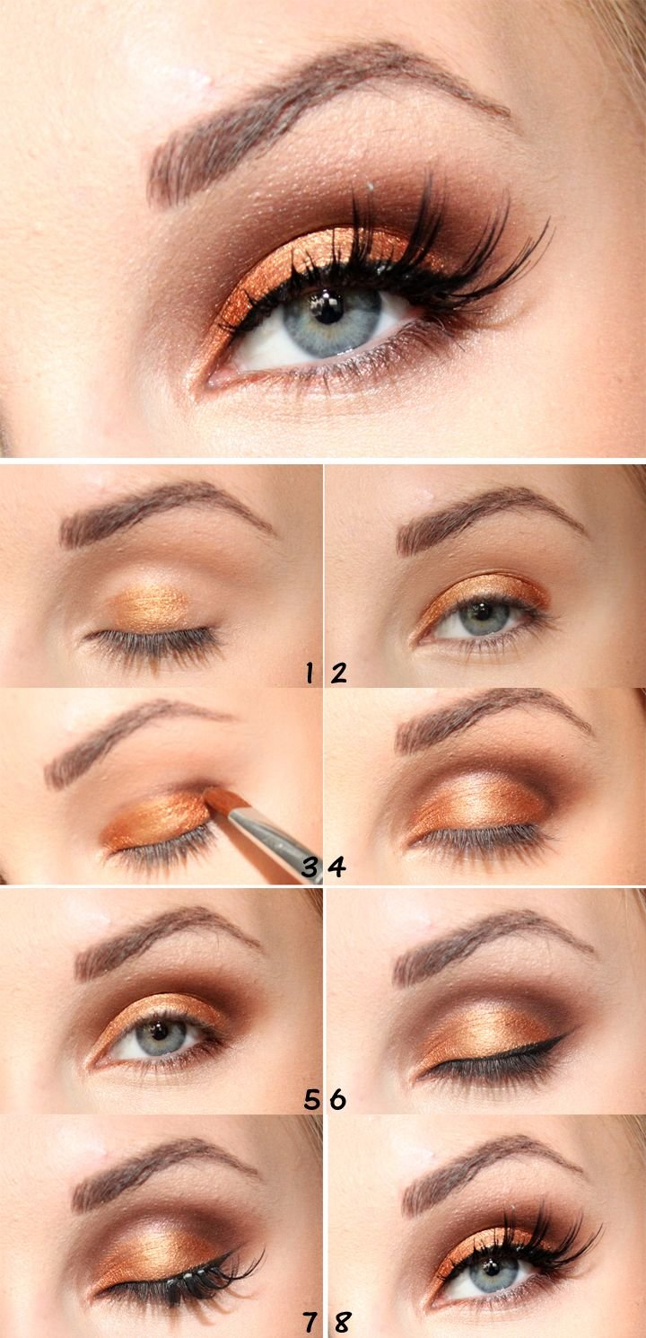 Как правильно наносит макияж пошагово фото