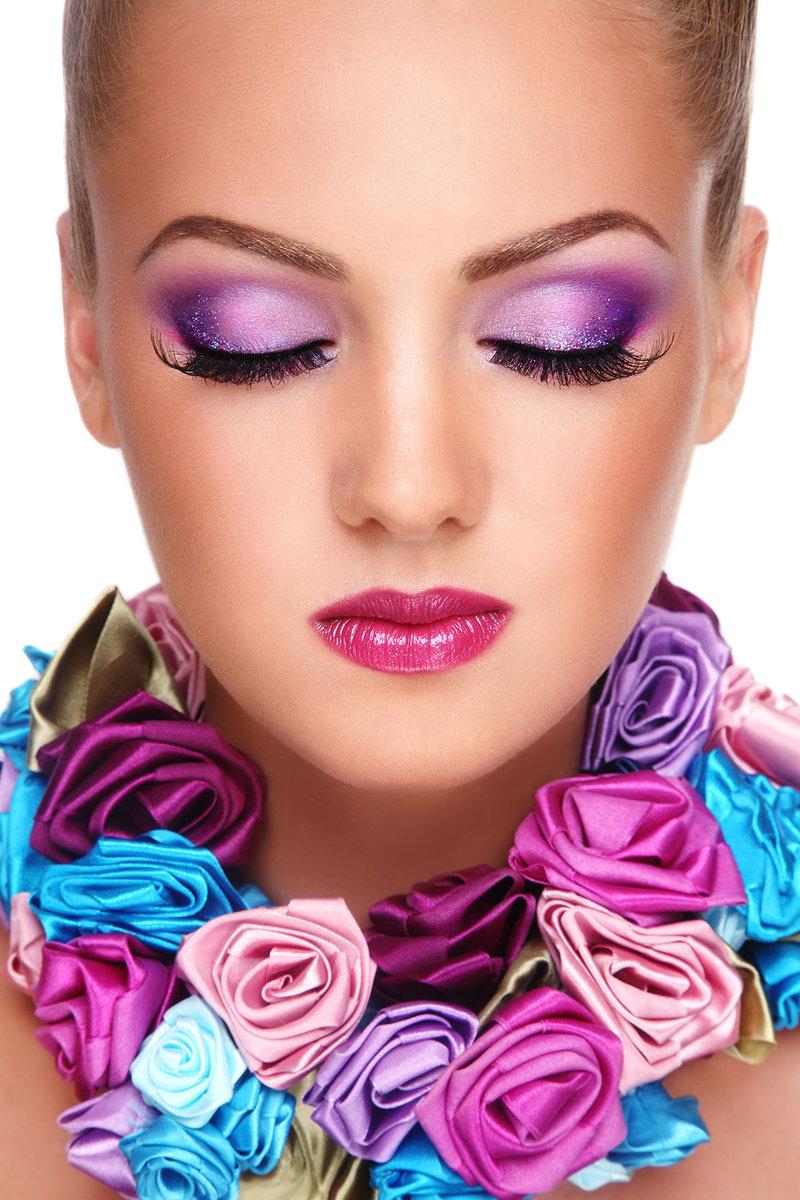 Фото макияж и красивое платье