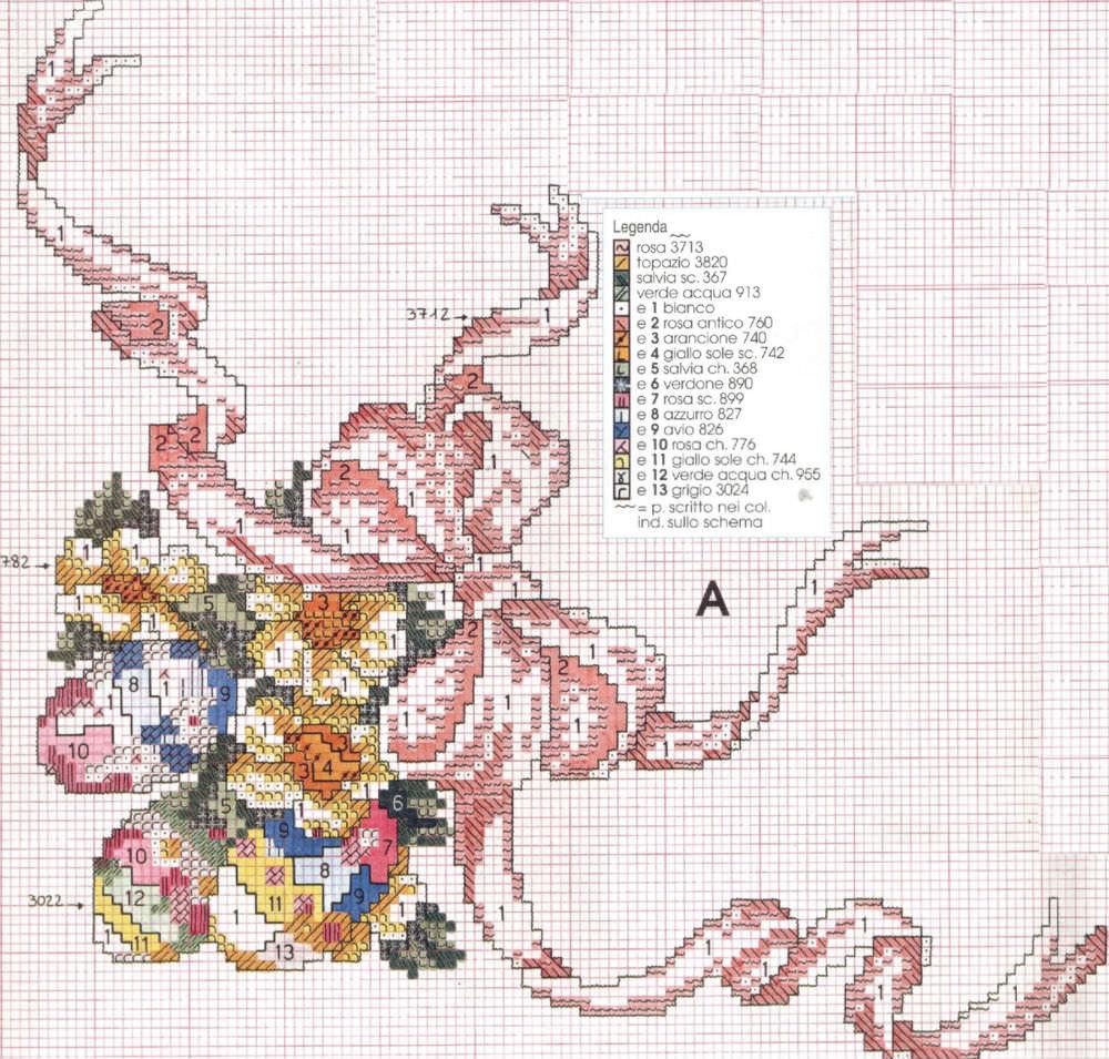 Пасхальная салфетка схема вышивки 82