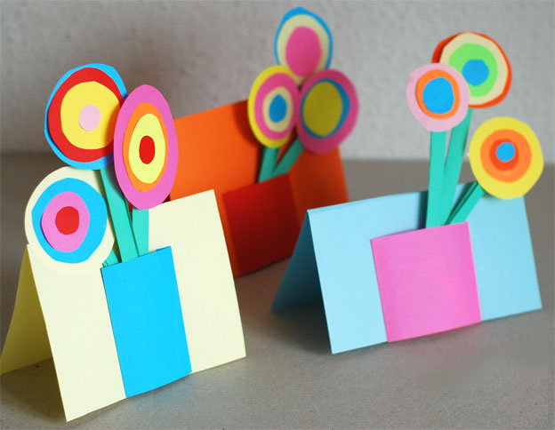 Открытки для мам своими руками из картона