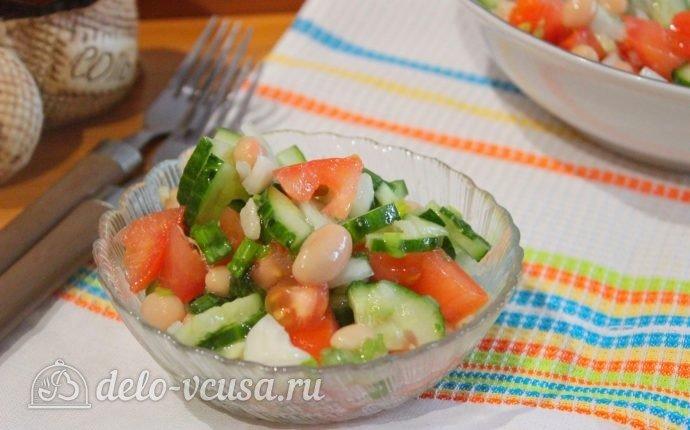 Салаты из фасоли рецепты с пошаговый рецепт с