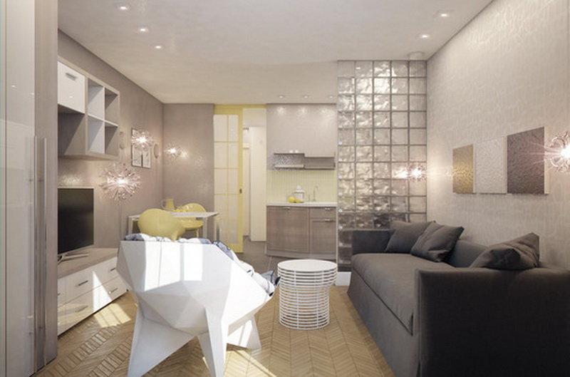 Дизайн студии 28 кв