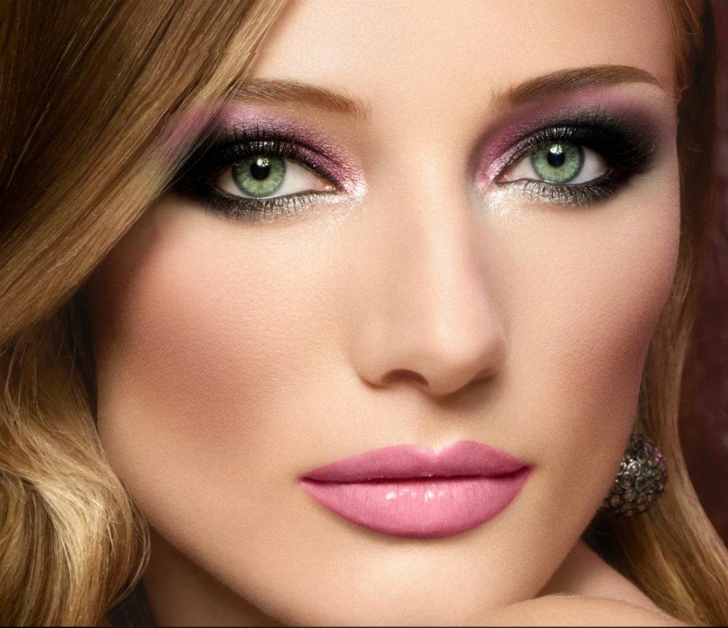 Макияж для лица и зеленых глаз
