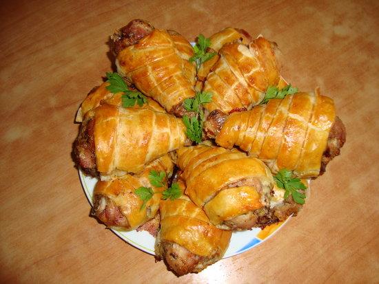 Куриные ножки в тесте с картошкой в духовке рецепт пошагово