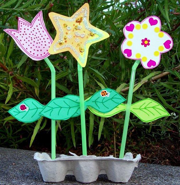 Детские поделки цветы 52