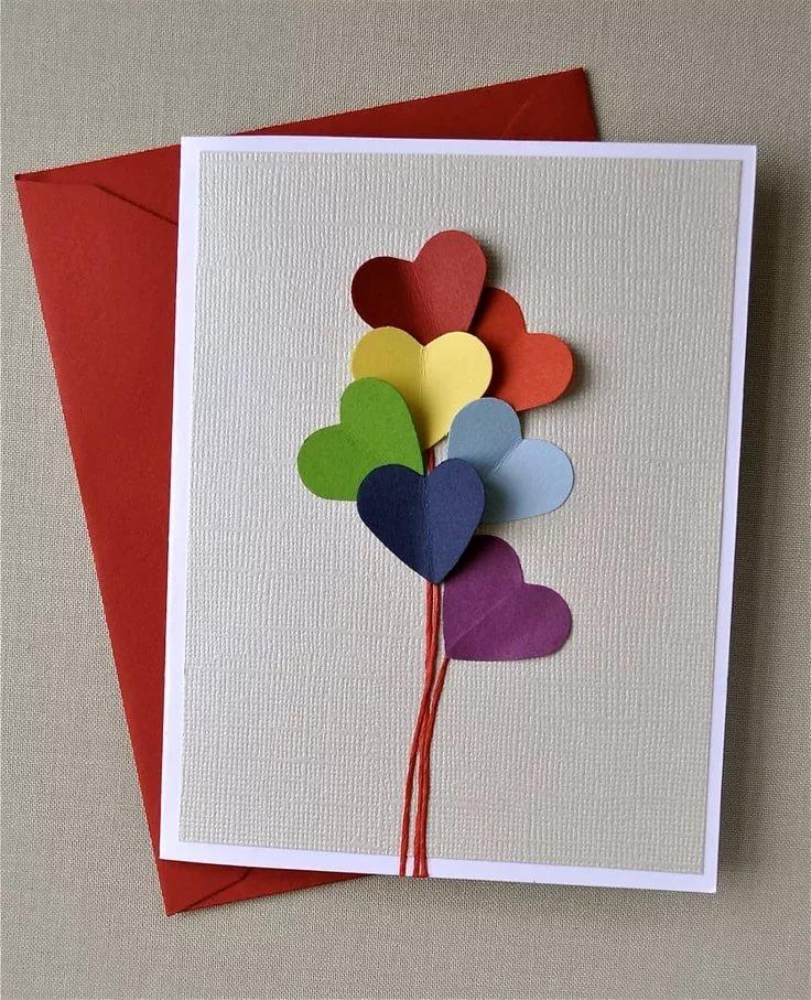 Сделать красивую открытку своими руками на день рождения маме 75