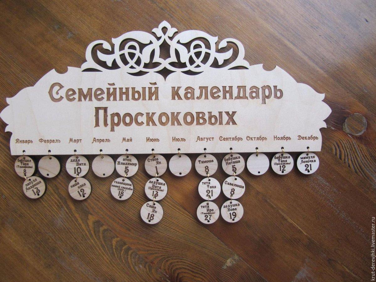 Календарь день рождения своим руками