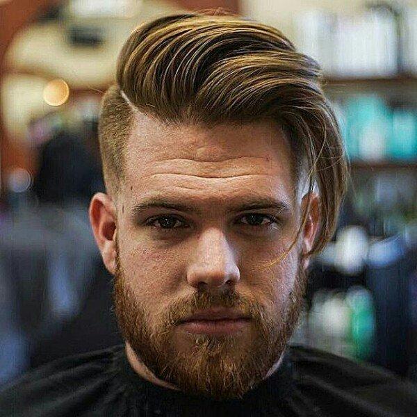 Причёски с волосами на бок для мужчин