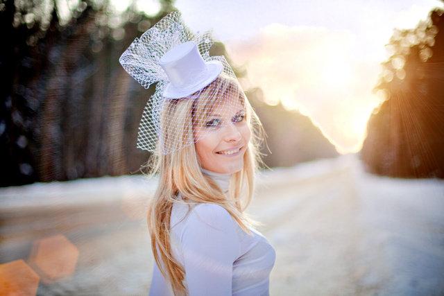 Свадебная шляпка - карточка от пользователя gustasha в Яндекс.Коллекциях
