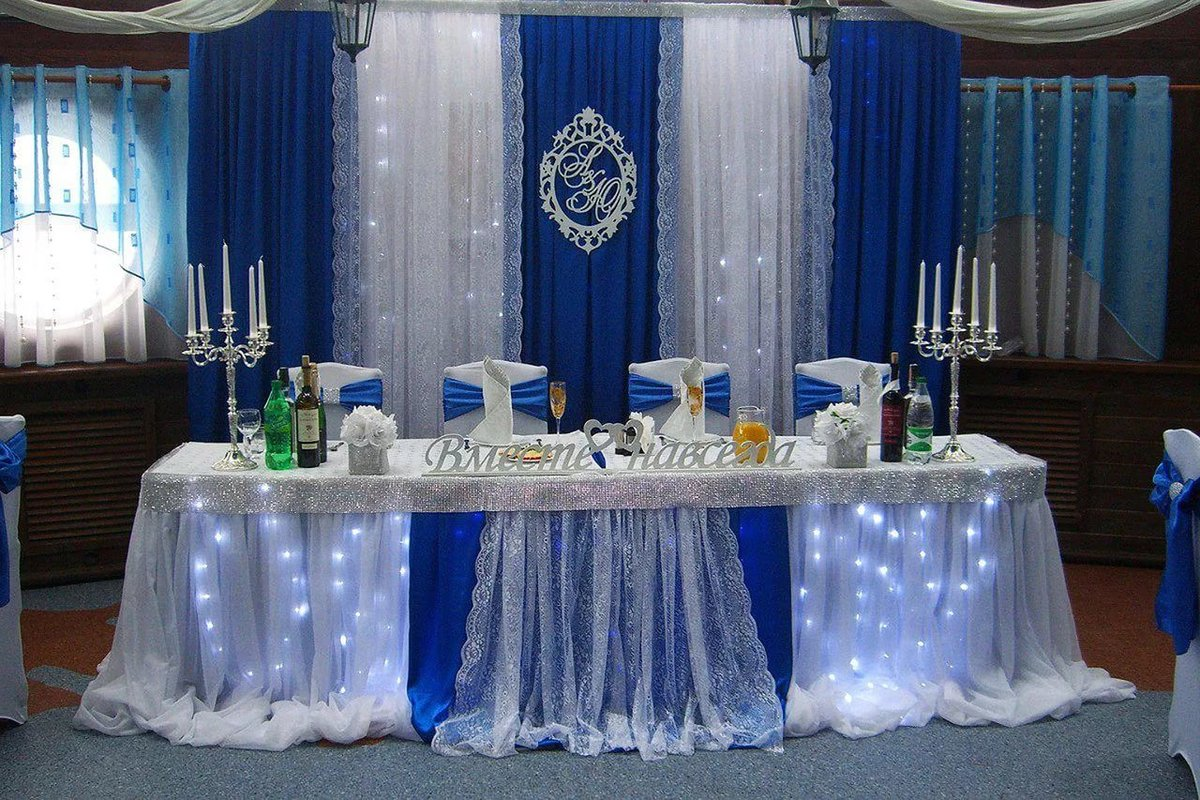 Оформление стола на свадьбу фото 2018