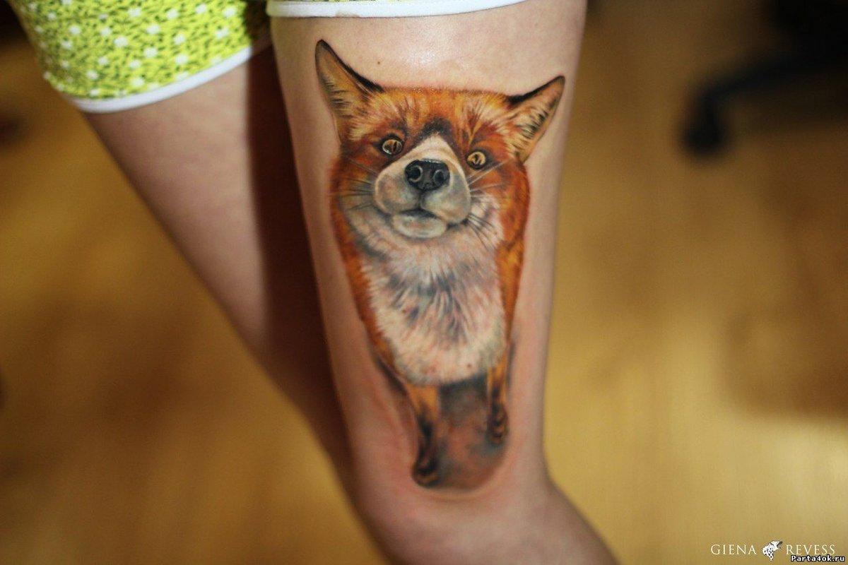 Татуировка лиса. Символика, основное 98