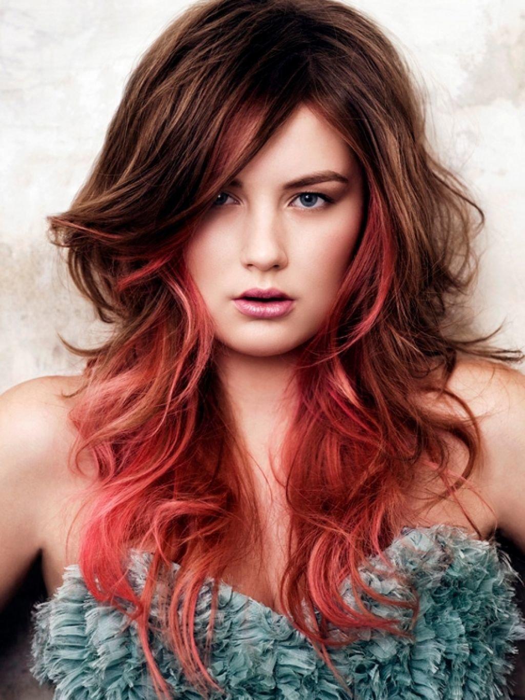 Прическа волос в два цвета фото на