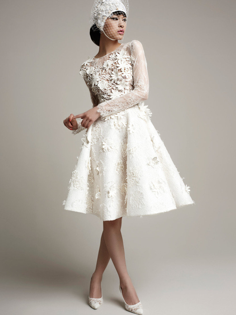 Свадебная мода фото коротких платьев