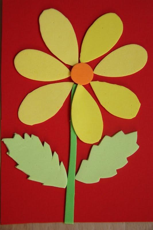 Аппликации цветы из цветной бумаги своими руками 14