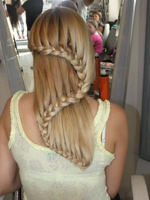 Плетение кос на длинные волосы водопад пошаговая инструкция