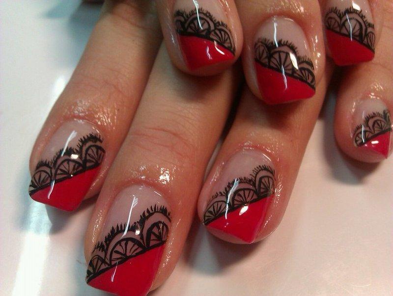 Фото гель лака с рисунком на ногтях