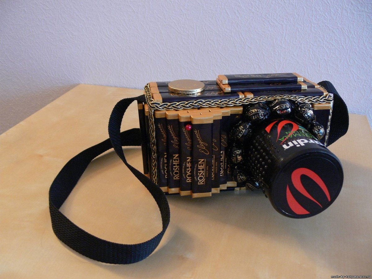 Фотоаппарат из шоколада своими руками