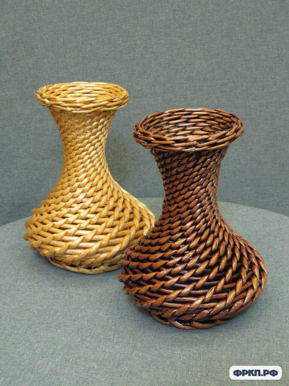 Газетное плетение ваза