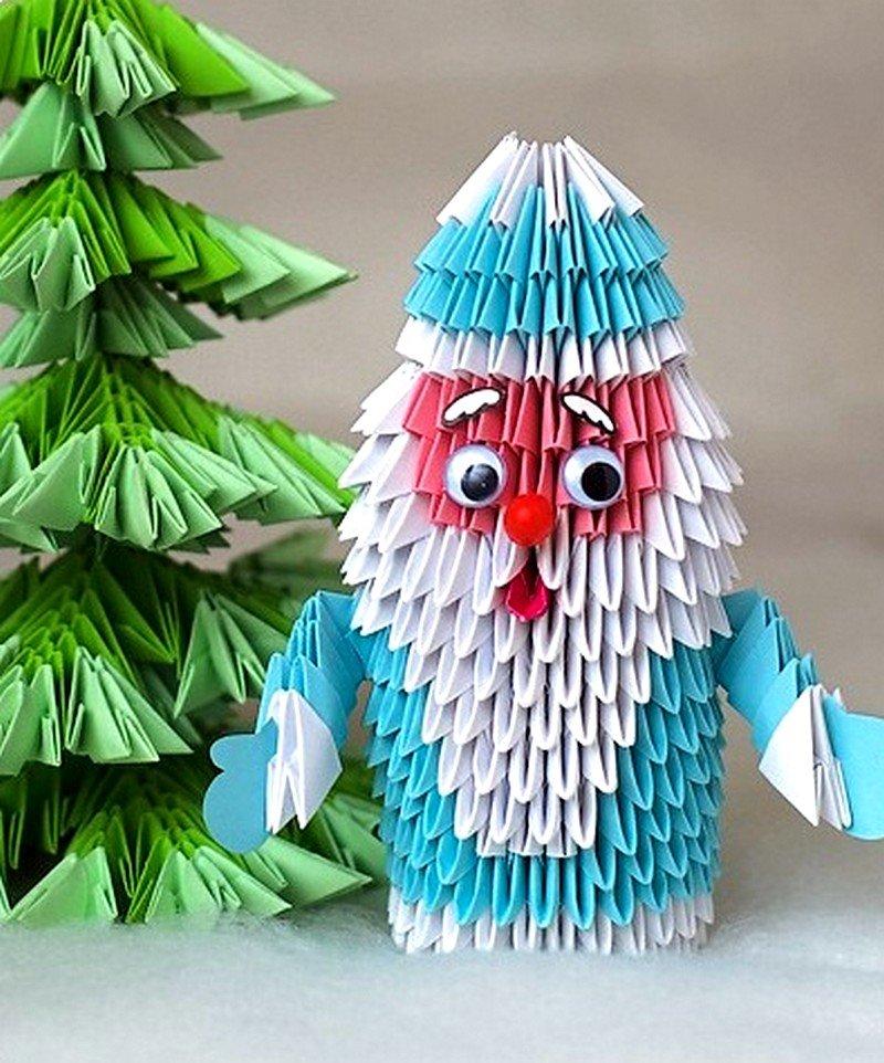 Модульное оригами новогодние поделки схемы 77