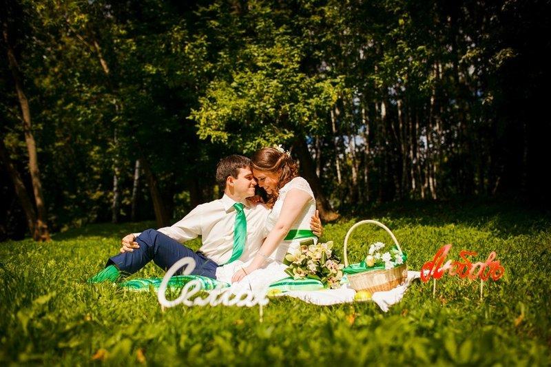 Свадебные фото на природе идеи