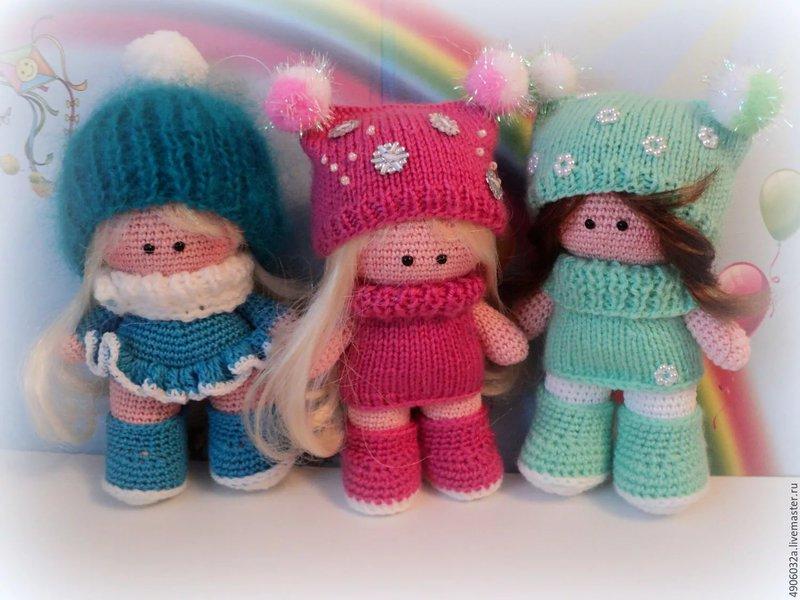Вязанные игрушки крючком кукла