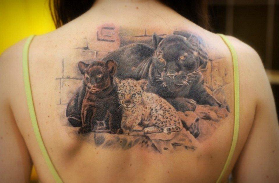 Обозначение тату пантера у девушек