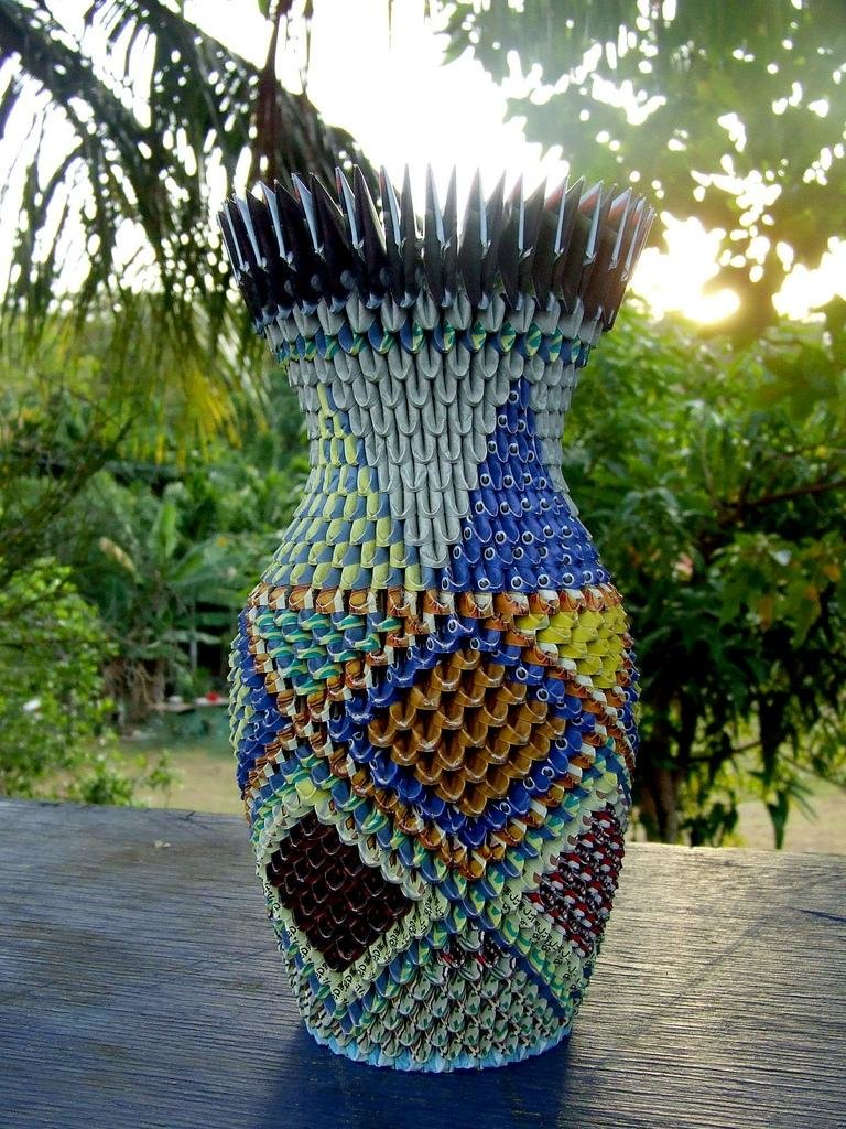 Большая напольная ваза своими руками из модулей 95