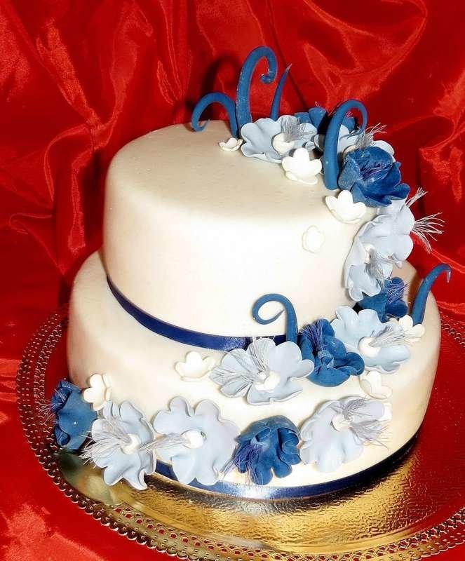 Двухъярусные торты на юбилей фото