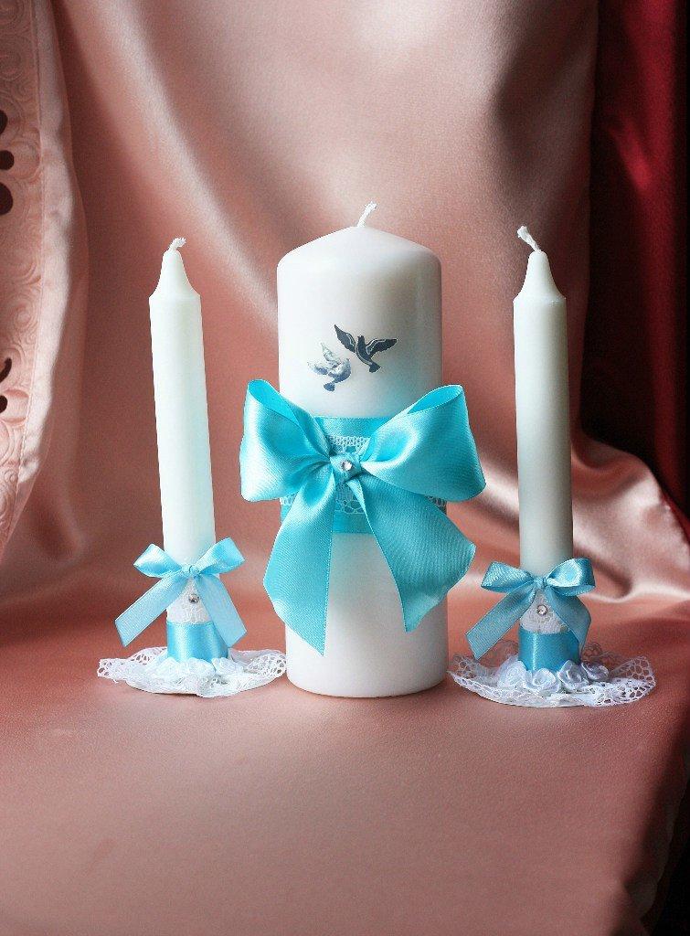 Свечи на свадьбу своими руками бирюзовые 26