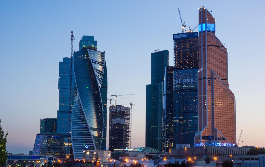 Москва сити ночь архитектура россия Башня на Набережной Город Столиц  № 3716323 бесплатно