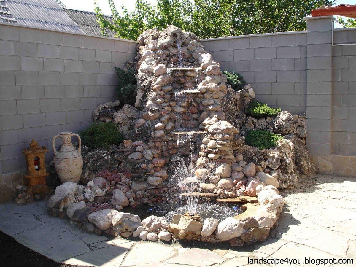 Сделать фонтан своими руками во дворе фото