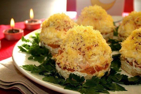 Вкусные салаты рецепты с порционные