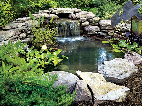 Как сделать самому водопад на даче своими руками 86