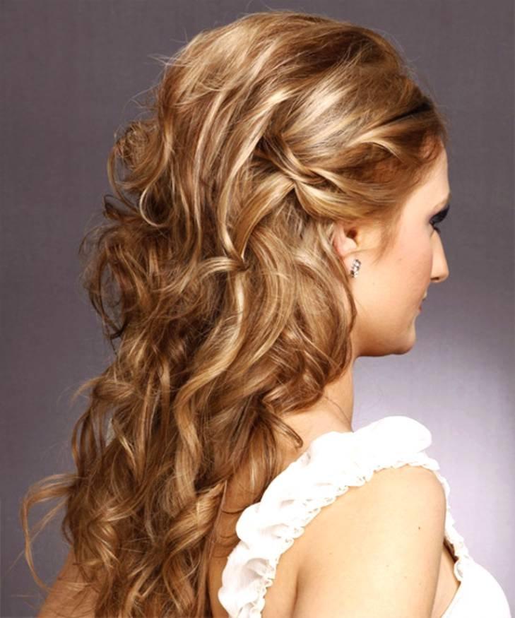 Фото причёски с кудрями на длинные волосы