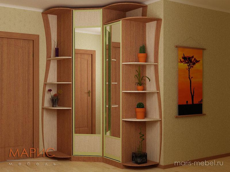 Угловые шкафы в прихожую: варианты и 35 фото