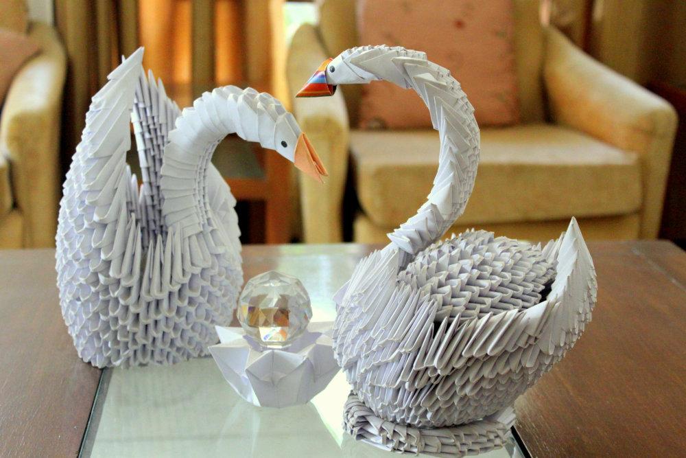Лебедь из оригами своими руками 53