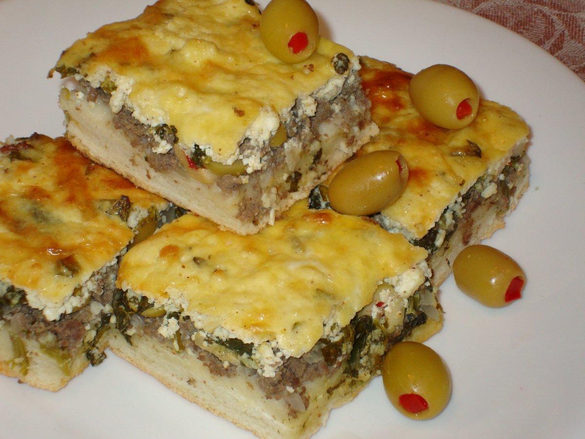 Рецепт пирога с мясным фаршем пошагово