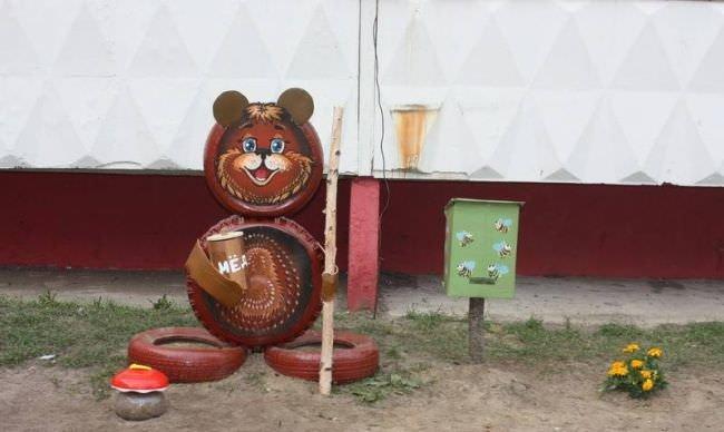 Поделки из шин медведя своими руками 34