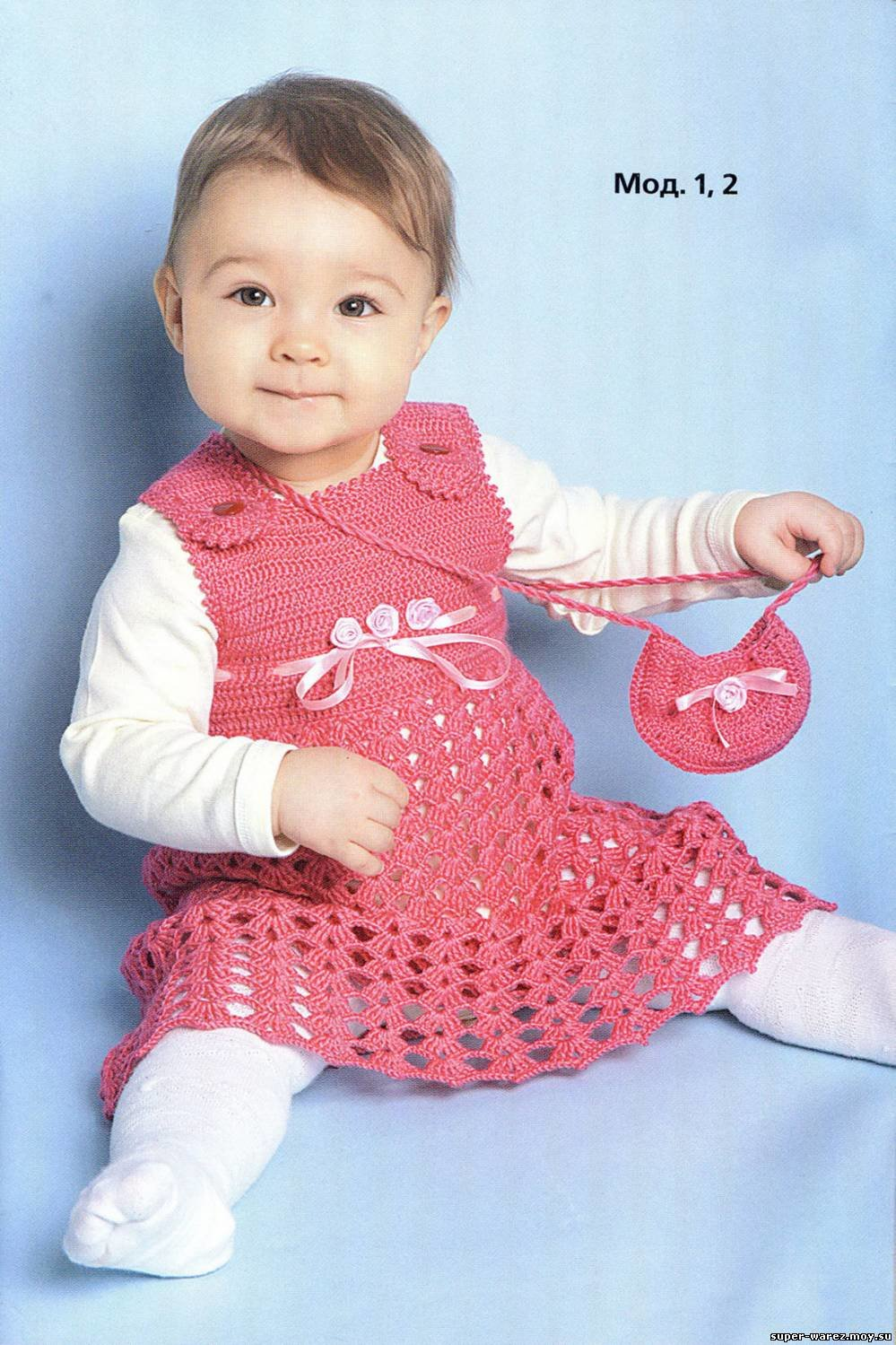 Вязаные платья ребенку фото