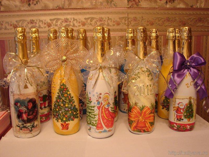 Декупаж на шампанском новый год фото - карточка от пользователя r.chaykivska в Яндекс.Коллекциях