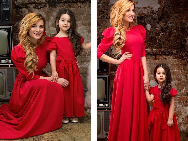 Красивые платья для мамы и дочки одинаковые летние