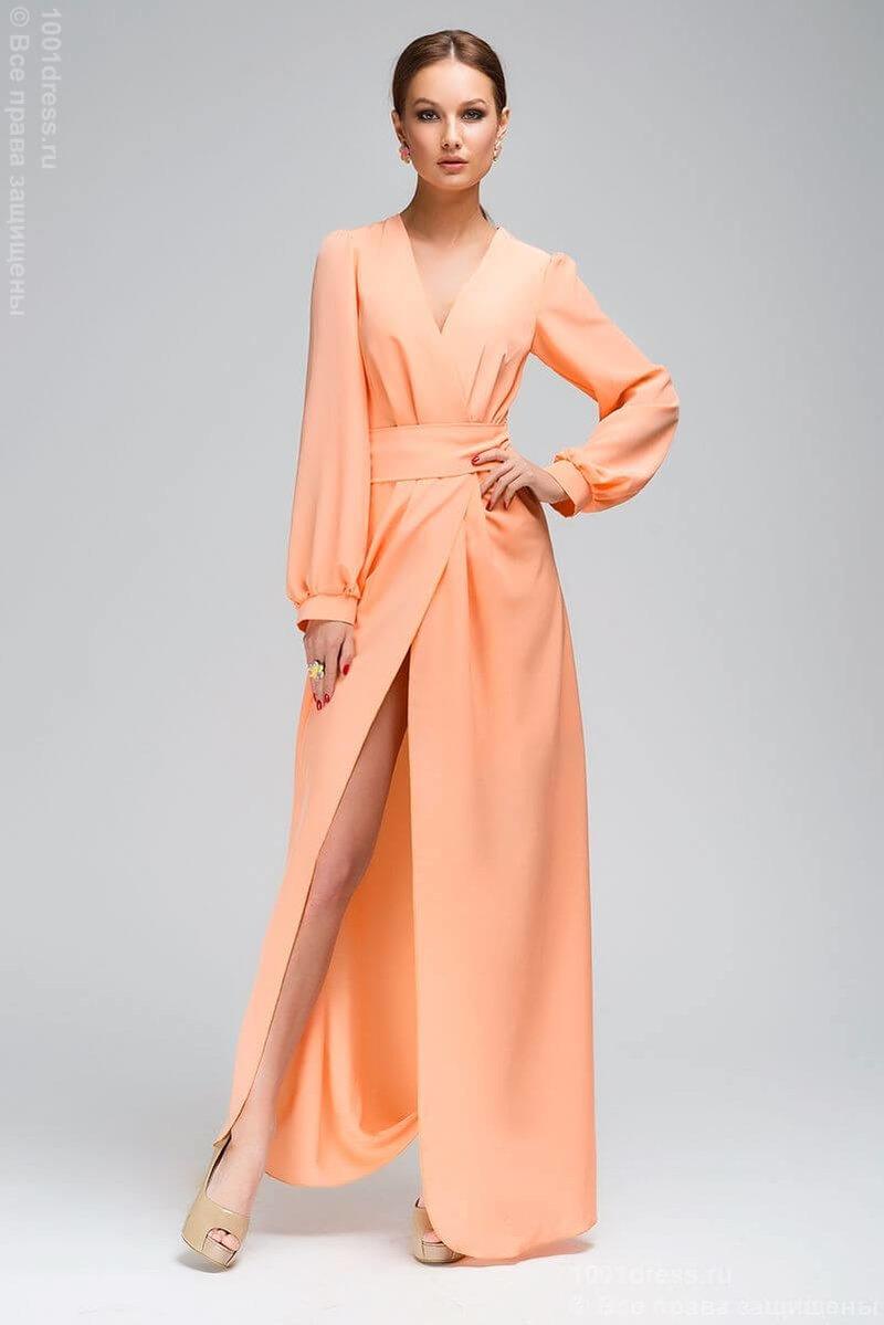 Длинное платье с запахом