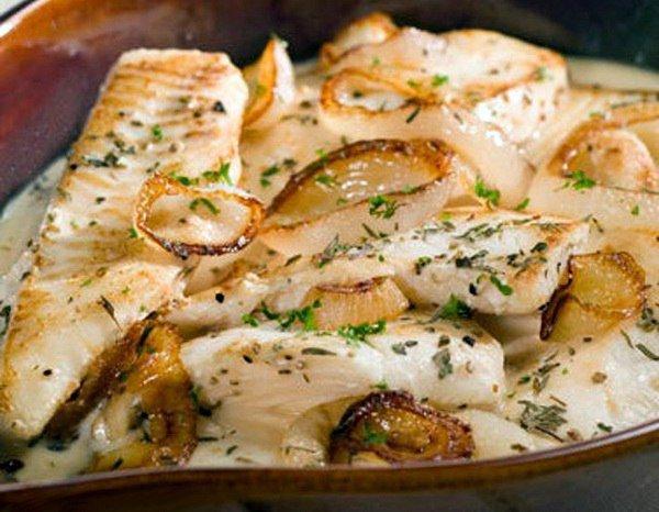 Филе трески в сметане на сковороде рецепт пошагово