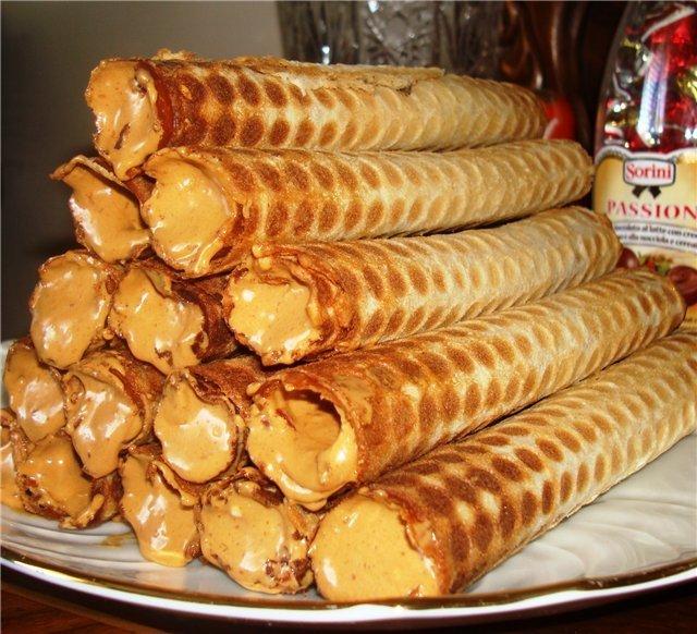 Вафельные трубочки с пошаговым фото