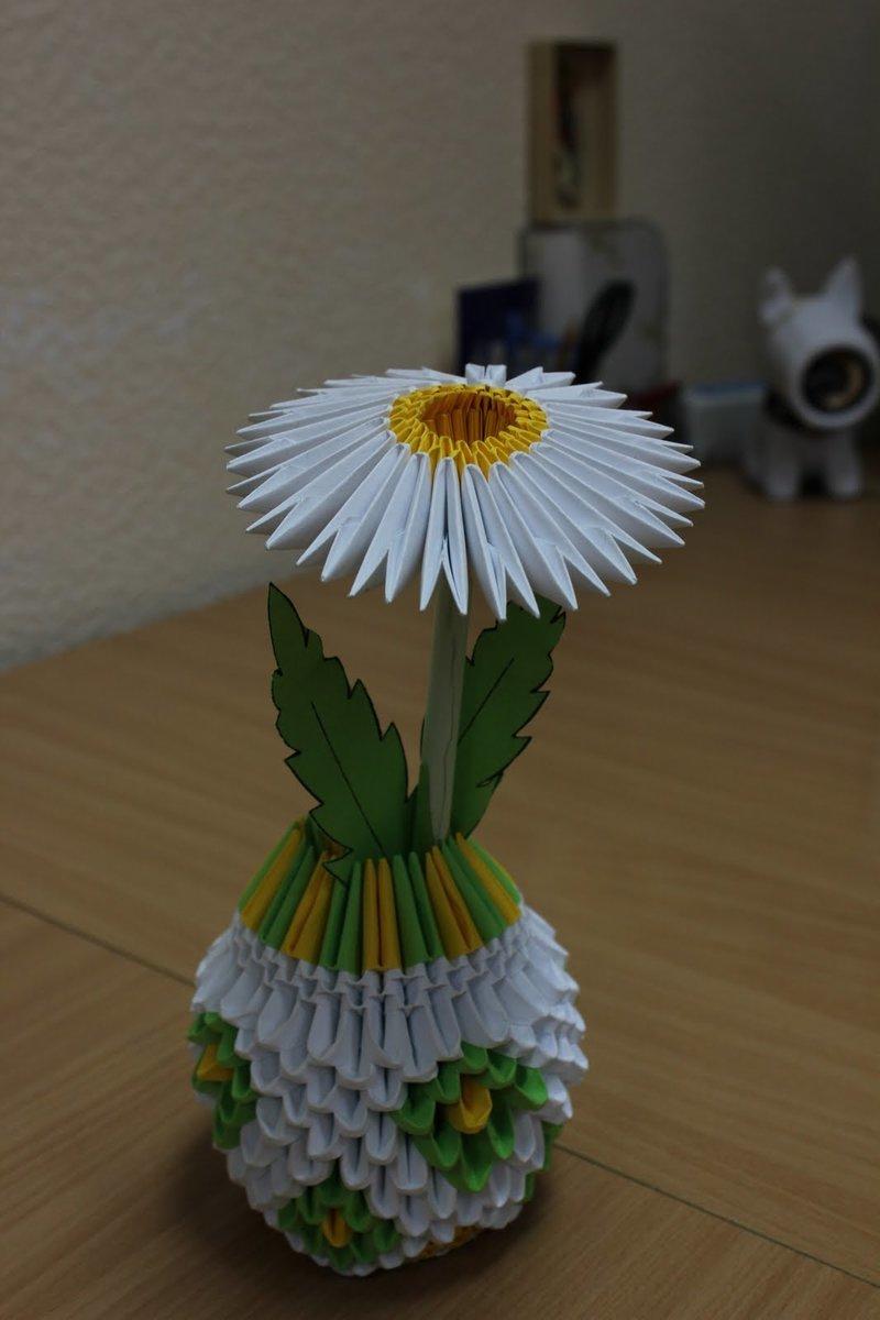 Оригами из бумаги модули схемы вазы