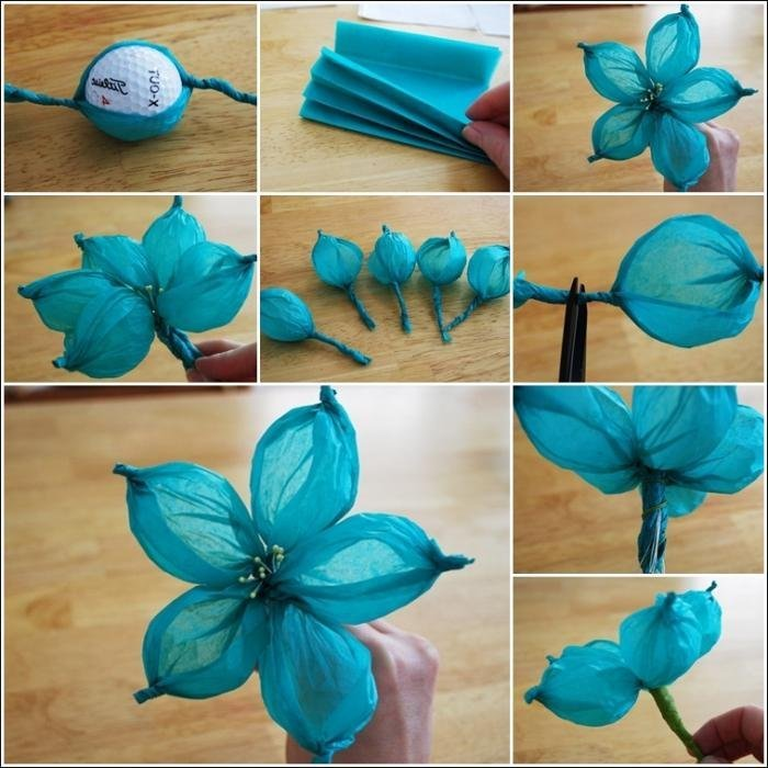 Цветы из креповой бумаги своими руками мастер класс для начинающих