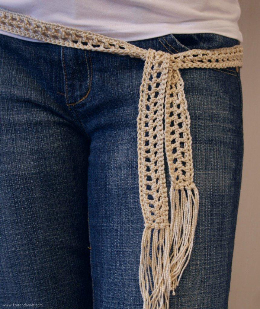 Вязание крючком простой пояс